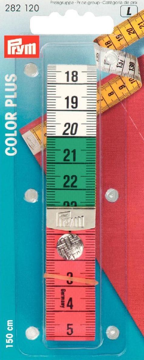 150cm//cm Prym cinta métrica color Plus con botón a presión